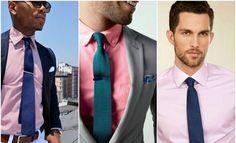 teal navy tie pink shirt men
