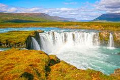 Check out Godafoss waterfalls in Iceland by Patricia Hofmeester on Creative Market