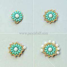 Two-hole Seed Bead Fan-shaped Earrings