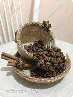 Здравствуйте, здравствуйте!!! Выставляю на ваш суд мои творения. Это моя первая чашечка)))) фото 4 Diy Party Decorations, Handmade Decorations, Handmade Crafts, Christmas Decorations, Coffee Bean Art, Floating Tea Cup, Crafts To Make, Diy Crafts, Teacup Crafts