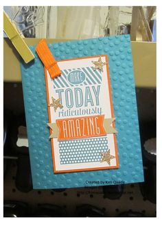 Stampin Up's Amazing Birthday stamp set card
