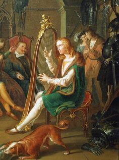 Krammer, Franz (1797-1834) - Harpist in the presence of court society