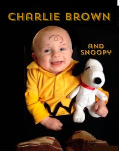 Baby Boy in a Charlie Brown and Snoopy costume, so cute❤️