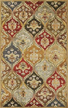KAS Rugs Syriana 6019 Jeweltone Panel Hand-Tufted New Zealand Wool x Design Textile, Textile Patterns, Textiles, Molduras Vintage, Motif Art Deco, Scandinavian Pattern, Clearance Rugs, Decoupage Paper, Traditional Rugs