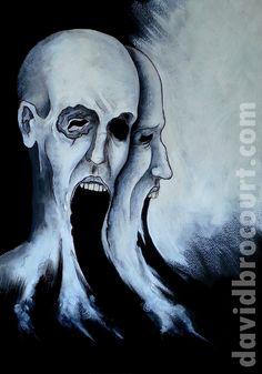 Schizophrenia. Acrylique et encre de Chine sur papier. 30x40 cm.