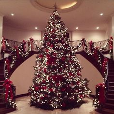 Breathtaking! Kris Jenner postd this Instagram on Tuesday of her beautiful Christmas tree standing tall in the foyer of her home