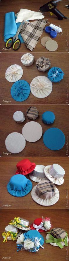 Artesanato Casa e Dicas: Chapéu com tampinha de garrafa PET