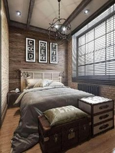 10 Fine Clever Tips: How To Remodel A Small Bedroom Closet simple bedroom remodel accent walls.Small Bedroom Remodel Before And After tiny bedroom remodeling. Small Master Bedroom, Masculine Bedroom, Mens Bedroom, Modern Bedroom, Small Bedroom, Small Bedroom Remodel, Remodel Bedroom, Interior Design Bedroom, Rustic Bedroom
