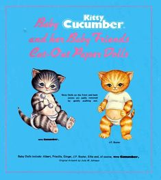 Image result for kitty cucumber paper doll cut outs