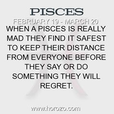 Fact about Pisces: When a Pisces is really mad they find it safest to keep... #pisces, #piscesfact, #zodiac. More info here: https://www.horozo.com/blog/when-a-pisces-is-really-mad-they-find-it-safest-to-keep/ Astrology dating site: https://www.horozo.com