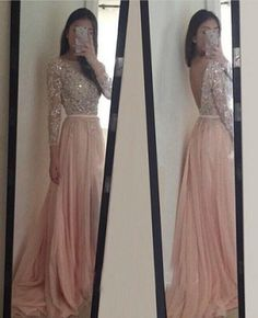 Look at this amazing prom dress . Prom Dresses With Long Sleeves Evening Party Dress pst0928