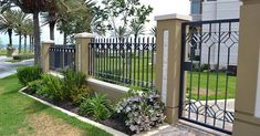 Prodigious Garden fence wooden fence posts and Modern fence design philippines. Fence Landscaping, Backyard Fences, Garden Fences, Wooden Fence Posts, Fence Art, Rail Fence, Dog Fence, Modern Fence Design, Fence Doors