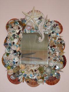 Seashell Craft Ideas   Seashell Mirrors   Cindy's Trash to Treasures Blog