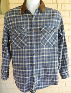 Men's National Outfitters Plaid Shirt Button Down Long Sleeve Size M #NationalOutfitters #ButtonFront