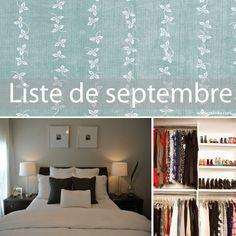 désencombrer en septembre - liste de choses à faire