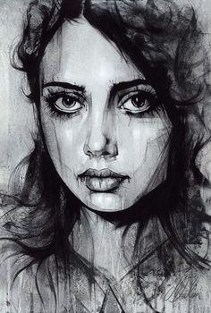 "Non Nude OIL & ACRYLIC CANVAS Painting ORIGINAL Portrait By L Dolan 16x24"" Alice"