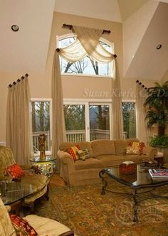 Attractive Image Detail For: Two Story Window Treatments Design, Pictures, Remodel,  Decor And Ideas
