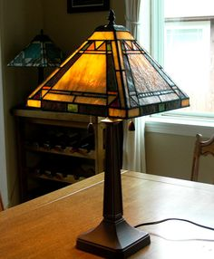 LS102 Original Stained Glass Lamp by jfreelin on Etsy, $595.00