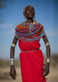 Old Samburu godess woman - Kenya.The Sambuuru are closest kin to Massai one of the world's famous African tribes. African Tribes, African Women, African Beauty, African Fashion, Black Is Beautiful, Beautiful People, African Culture, World Cultures, People Around The World