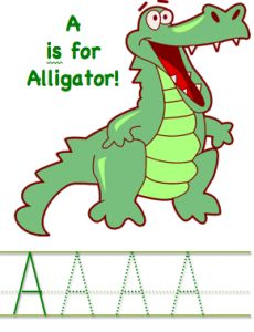 alligator printables