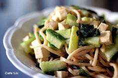 It's getting a little too hot to eat warm food. Fortunately, these sesame-coated noodles are cold and refreshing. This preparation is vaguely Japanese-inspired, due to the wakame and soy sauce, but...