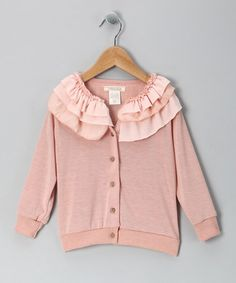 Take a look at this Cavelle Blush Dandelion Day Cardigan - Toddler by Made in the USA Collection on #zulily today!