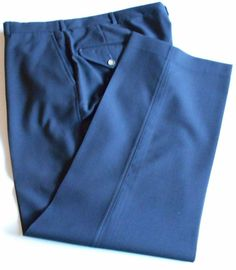Land's End Dress Pants Slacks Navy Men's Size 38x30 Flat Front Wool    4041 #LandsEnd #DressFlatFront