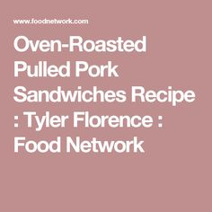 Roasted pulled pork sandwiches recipe
