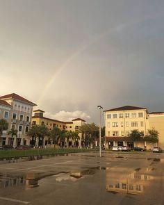 Beautiful rainbow over #MiramarTownCenter!   #itsrighthereinmiramar #miramarfl #miramar #rainbow