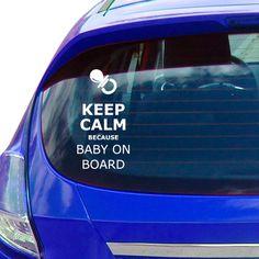 Vinilo para colocar en el cristal del coche y avisar al resto de conductores!!