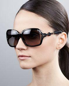 e76d57c40dd Open-Temple Square Sunglasses by Gucci at Neiman Marcus.