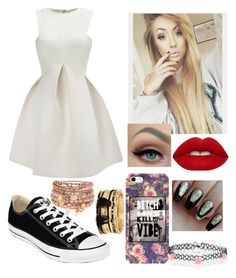 """Don't kill my vibe"" by elliethemunchkin on Polyvore featuring Converse, Lime Crime, Forever 21, Accessorize and WithChic"