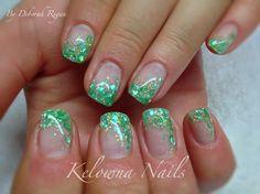 #green #gelnails #seashells #glitter #sparkles @kelownanails #nails