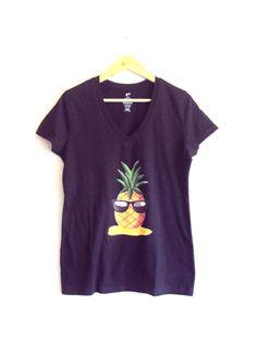 Hipster Pine Apple Top Yoga Fitness Workout Running Beach Unisex T-Shirt Women Men Fashion Hipster T-Shirts by GrahamsBazaar