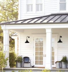 My favorite color palette for a farmhouse exterior with a tin roof ...