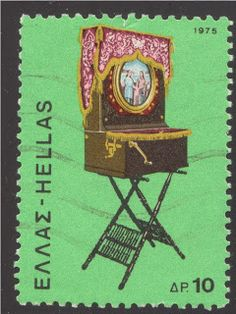 Greece 1975 - Greece issued this stamp featuring a barrel organ in 1975.