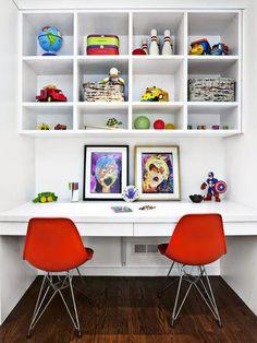 10 rincones, de estudio compartido, para niños | inés moreno #habitaciones #infantiles #kidsroom #workspace
