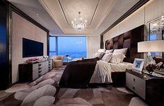 Bedroom - beautiful walls - love the colors - beautiful room | Steve Leung Designers