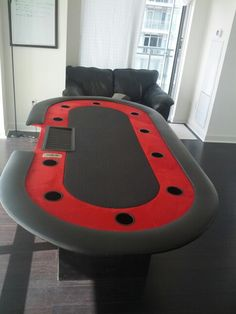Poker table Woodworking Projects Diy, Wood Projects, Poker Night, Video Poker, Tasting Table, Game Rooms, Casino Games, Table Games, Jaba