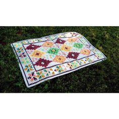 Vintage 100% Wool Rug Southwestern Cowboy Native American Inspired... ($389) ❤ liked on Polyvore featuring home and rugs