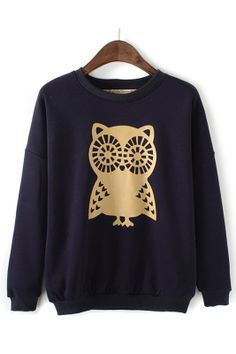 Owl Printing Pullover
