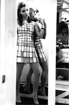 Talitha Getty in Paco Rabanne, 1967.