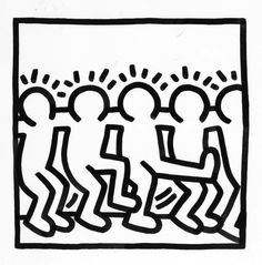 תוצאת תמונה עבור ‪keith haring dancers wall decals‬‏