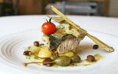 Alessandro Neri | Trancio di ombrina, patate, carciofi, olive taggiasche e lemongrass