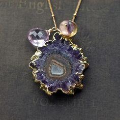 amethyst spark necklace