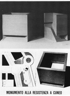 monument to the resistance, cuneo 1962 aldo rossi Architecture Drawings, Contemporary Architecture, Architecture Design, Chinese Architecture, Aldo Rossi, Beton Design, Arch Model, Famous Architects, Louis Kahn