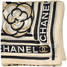fd36245cb9c Genuine Chanel scarf with famous floral  logo design
