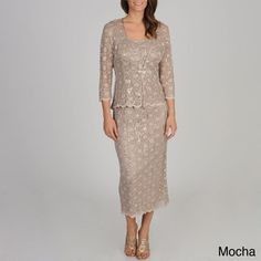 R & M Richards Women's Sequined Lace Jacket Dress - Free Shipping Today - Overstock.com - 15514752 - Mobile