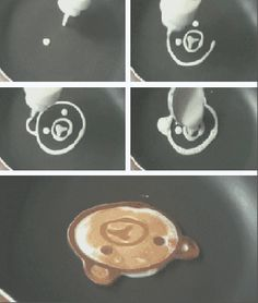 makes me think of Hilary and George LaMay's artsy pancakes for their little lady Olivia