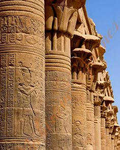 Magnificent columns at the beautiful Temple of Philae in Aswan. Contact to arrange you an amazing trip to Aswan highlights. info@exploreegyptwithessam.com ============================ #philae #aswan #egypt #exploreegyptwithessam #travel #travelphotography #traveltheworld #travelgram #travelblogger #travelling #vacation #vacationmode #vacations #vacationtime #vacationgoals #holiday #holidays #holidayseason #tour #tourism #tourist #tours #explore #exploremore #explorer Ancient Egyptian Architecture, Historical Architecture, Egyptian Temple, Egyptian Art, Luxor, Kairo, Visit Egypt, Africa Art, Aliens